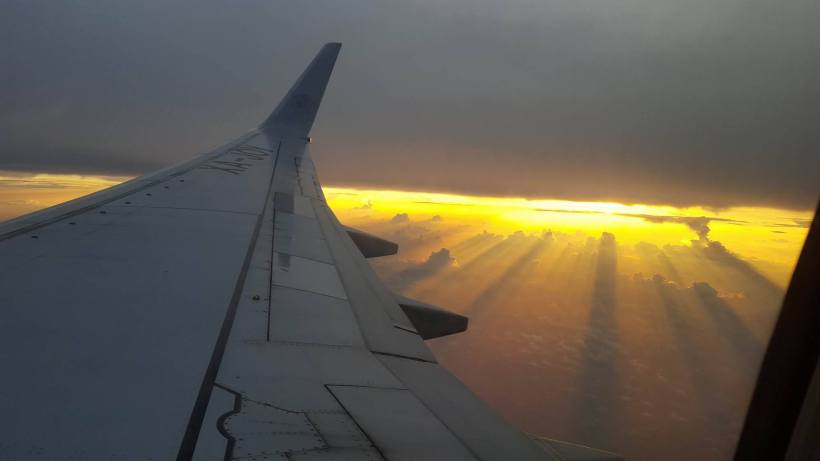 airplane sunsets
